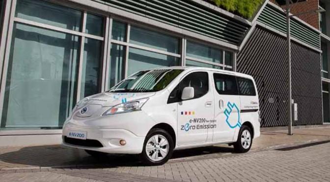 日産自動車、「電気自動車(e-NV200)活用事例創発事業」を開始