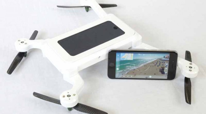 スマートフォンをドローンにする「Phone Drone」出資者募集中