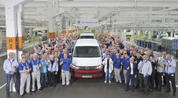 フォルクスワーゲン、VW新トランスポーター(T6)の生産開始