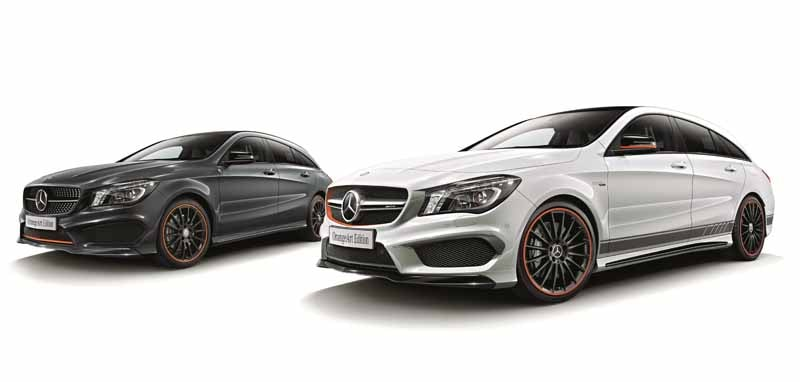 Mercedes Benz Japan announced the %22CLA Shooting Brake OrangeArt Edition%22-2-min