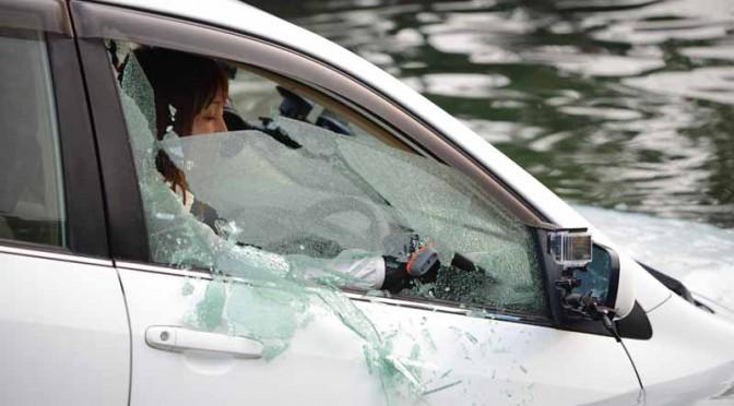 JAFホームページで車両冠水の検証テスト動画を公開