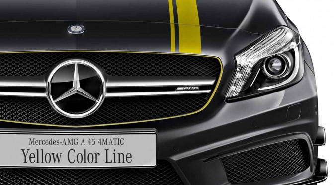 メルセデス・ベンツ日本、Mercedes-AMG A 45 4MATIC Yellow Color Line発表