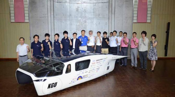 工学院大学、ワールドソーラーチャレンジへ挑む新車両「OWL(あうる)」を初披露