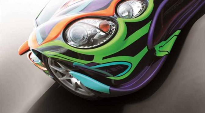 光岡自動車、麻布ショールームでエヴァンゲリオン オロチ特別展示