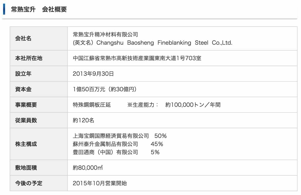 toyota-tsusho-and-participate-in-special-steel-steel-manufacturing-business-in-china20150721-1