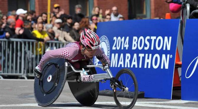 八千代工業の 土田選手、2015はまなす車いすマラソンで優勝
