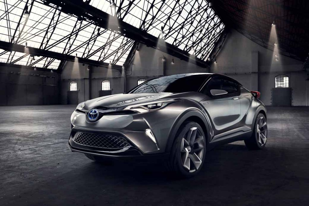Toyota, the %22TOYOTA C-HR Concept%22 exhibition of the 5-door specifications IAA2015-11