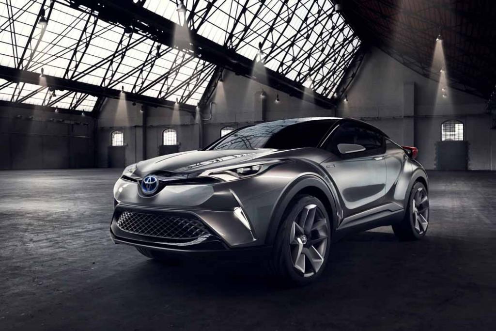 Toyota, the %22TOYOTA C-HR Concept%22 exhibition of the 5-door specifications IAA2015-11