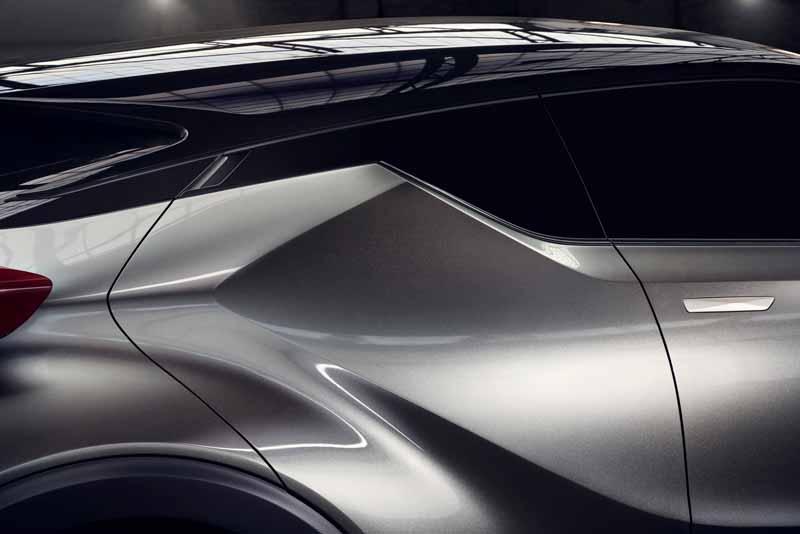 Toyota, the %22TOYOTA C-HR Concept%22 exhibition of the 5-door specifications IAA2015-6