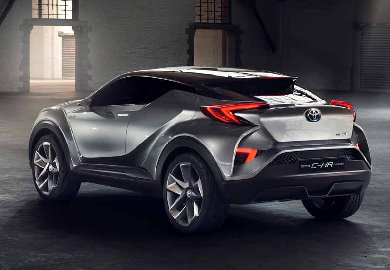 Toyota, the %22TOYOTA C-HR Concept%22 exhibition of the 5-door specifications IAA2015-10