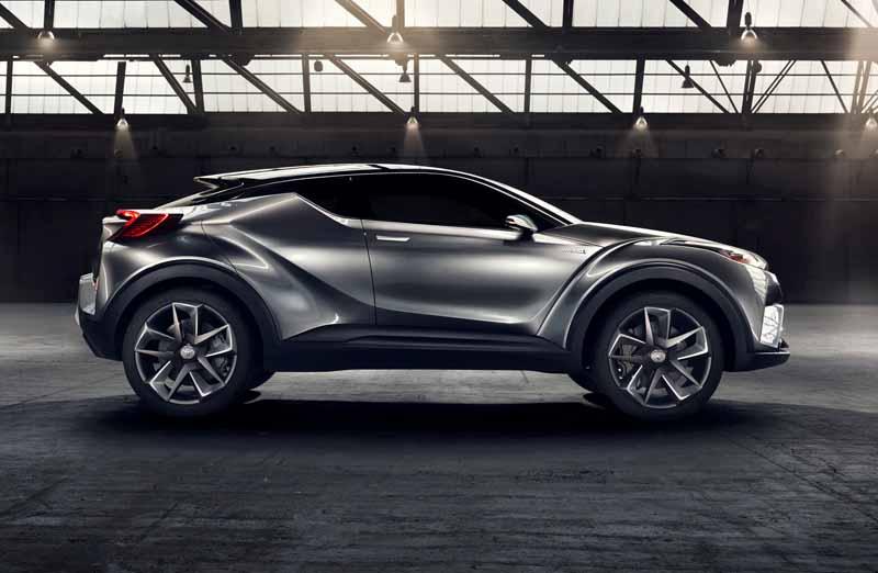 Toyota, the %22TOYOTA C-HR Concept%22 exhibition of the 5-door specifications IAA2015-14
