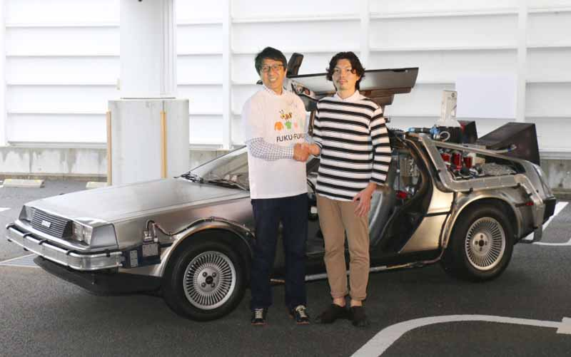 GEO, %22FUKU-FUKU × BTTF GO! DeLorean traveling project%22 first photo session Implementation Report-2