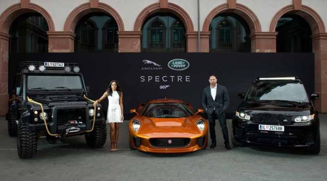 ジャガー・ランドローバー、007シリーズ最新作提供車両を世界初公開
