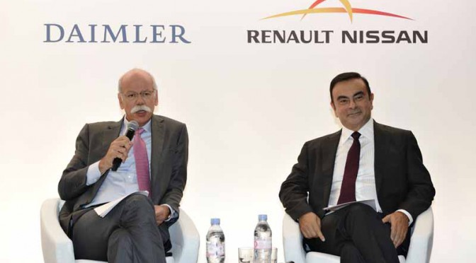 ルノー・日産アライアンスとダイムラー、2015年に協力関係強化を加速