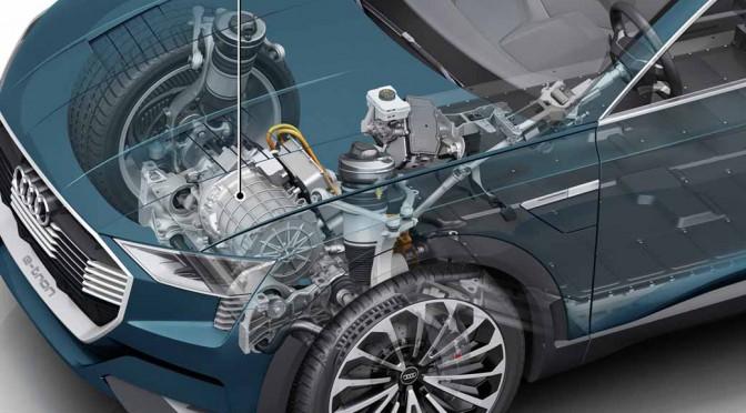 アウディ「Audi e-tron quattro concept」発表へ、航続500km超・最高速210km