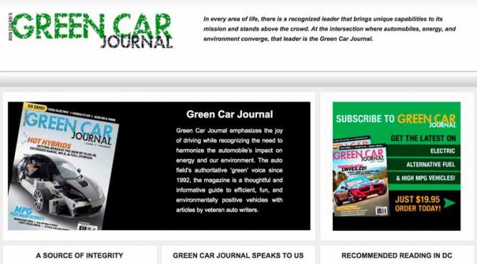2016 Green Car Of The Yearのファイナリスト5車種発表