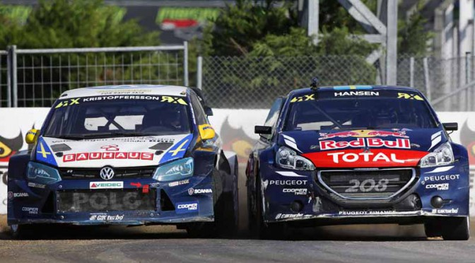 FIA WORLD RALLYCROSS CHAMPIONSHIP 2015 - TURKEY - ISTANBUL - WRX - 02/10/2015 TO 04/10/2015 - PHOTO :  @World.   Team Peugeot-Hansen - Peugeot 208 WRX
