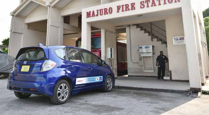 ホンダ、マーシャル諸島共和国においてEV充電関連技術の実証実験を開始