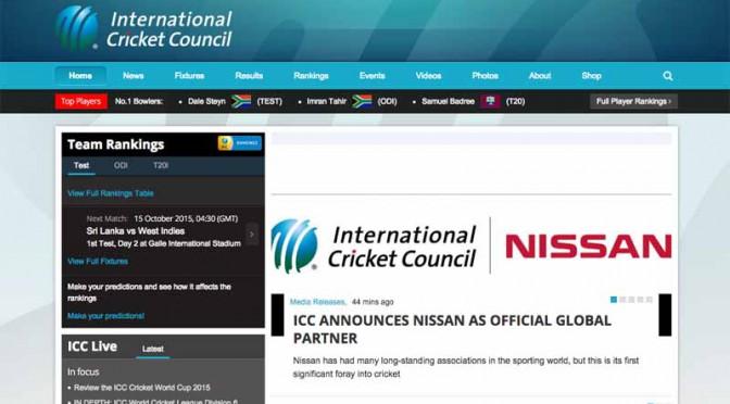日産自動車、国際クリケット評議会とスポンサー契約を締結