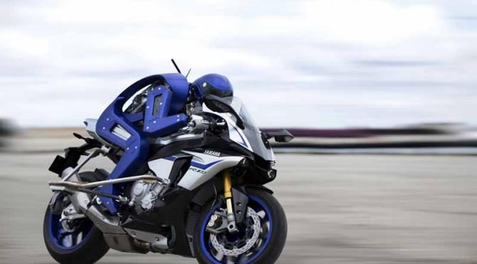 ヤマハブースの「MOTOBOT」、目指すは世界チャンピオンの超越