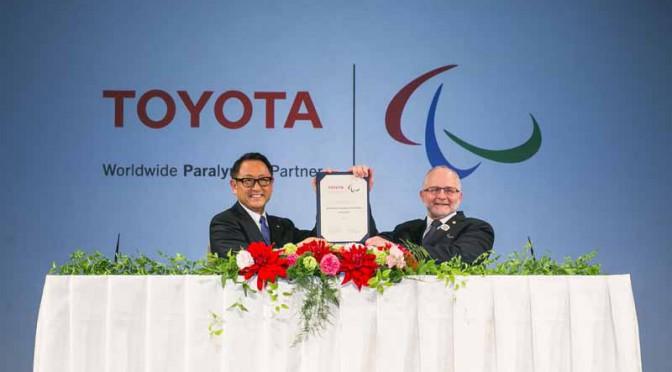 トヨタ自動車、IPCワールドワイド・パラリンピック・パートナーに就任