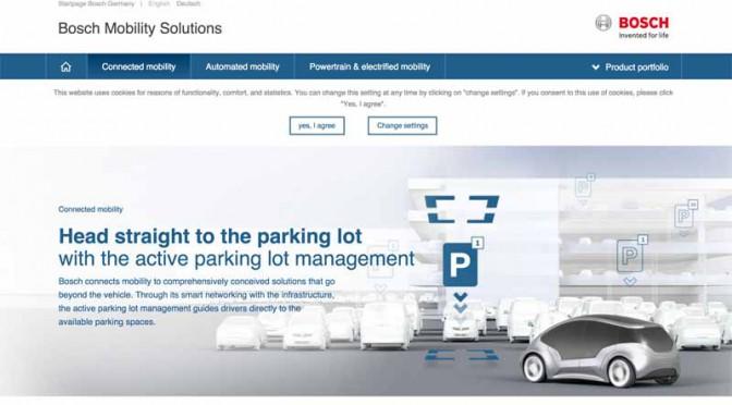 ボッシュ、独シュトゥットガルトで駐車場情報のオンラインサービス開始