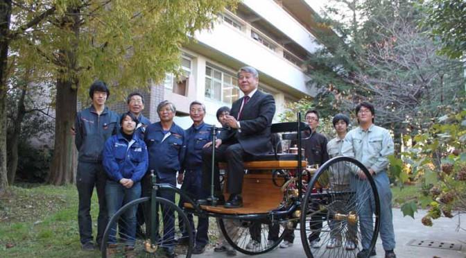 産業技術短期大学、世界初のベンツ・ガソリン車両の複製を大阪モーターショーに出展