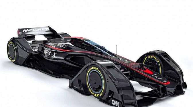 マクラーレン、近未来のフォーミュラ・レーシングマシンの姿を提案