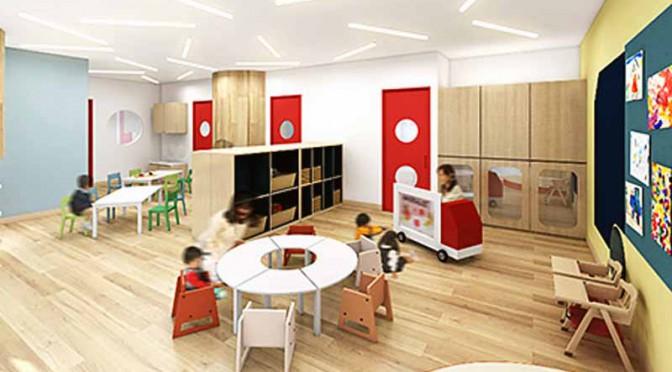 三菱ふそう、商用車業界初の従業員向け保育施設を開設