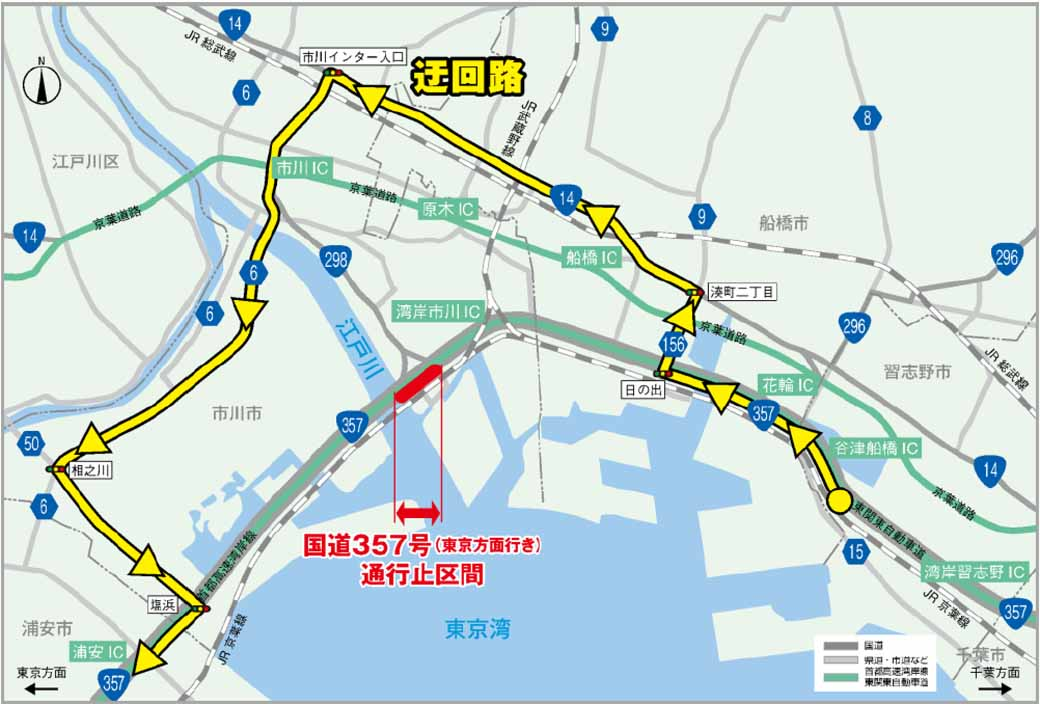 national-highway-357-no-tokyo-area-from-nighttime-traffic-stop-227-of-ichikawa-takaya-land-destination-only-4-night-between-326-20160127-1