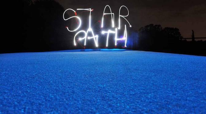 太陽光を吸収して夜道を光らせる舗装材「Starpath-PRO」国内販売開始
