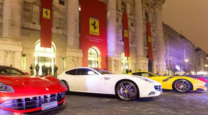 跳ね馬がミラノ・デビュー。フェラーリ、イタリア証券取引所に株式上場