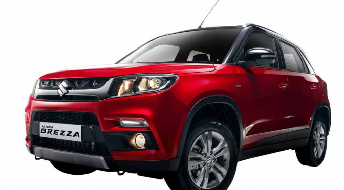 Suzuki, announced the new compact SUV %22Bitara Brezza%22 in India Auto Expo-1