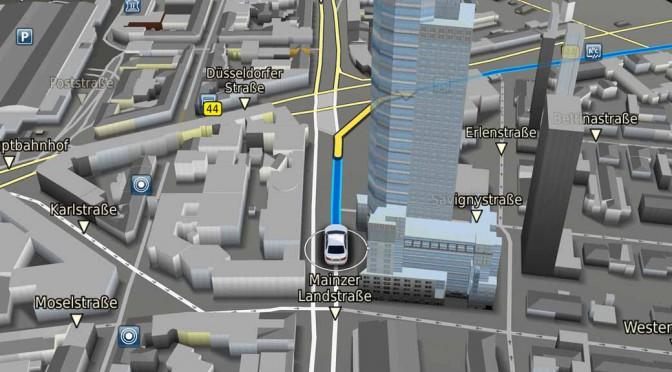 ボッシュの車載ナビゲーション、地形の高低差をリアルに表示