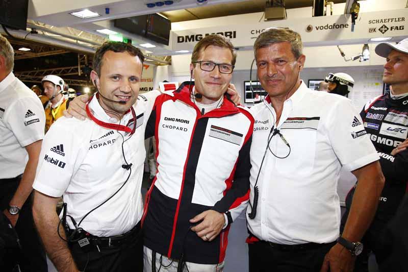 Alexander Hitzinger, Technical Director, Andreas Seidl, Team Principal, Fritz Enzinger, Vice President