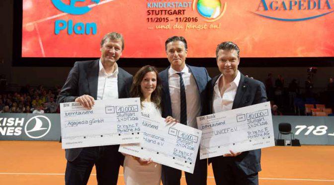 独・ポルシェAG、テニストーナメントで3万ユーロを恵まれない子供達へ寄贈