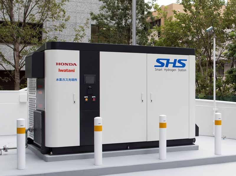 ホンダ青山本社ビルに「スマート水素ステーション Shs 」を設置。都内商業地域では初 Motor Cars