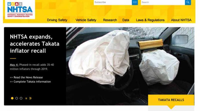 us-department-of-transportation-highway-traffic-safety-administration-and-the-japanese-takata-the-inflator-of-additional-recall-up-to-40-million-pieces-in-the-agreement20160506-1