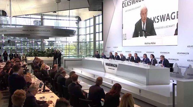 VW(フォルクスワーゲン)グループ、2015年次決算会見を独国から世界に発信