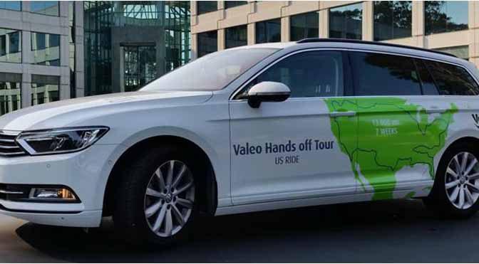 ヴァレオの半自動運転車が、アメリカ一周30都市を巡る13,000マイルを走破するドライブに挑戦
