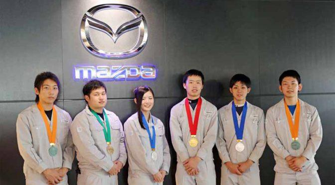 マツダ、「第54回技能五輪全国大会」で「曲げ板金」5大会連続の金賞を獲得