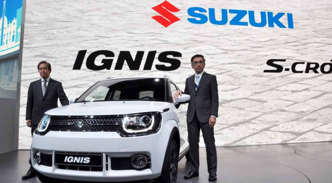スズキのクロスオーバー「IGNIS」(イグニス)、パリモーターショー出品で欧州販売開始を発表