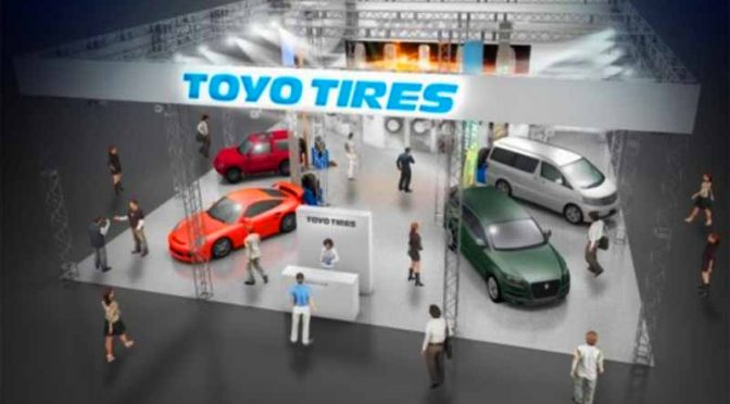 東洋ゴム工業、「東京オートサロン2017」にTOYO TIRESブースを出展