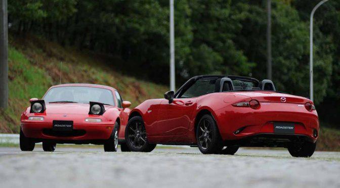 マツダ ロードスターに、初代の「クラシックレッド復刻カラー車」が登場。期間限定で販売開始