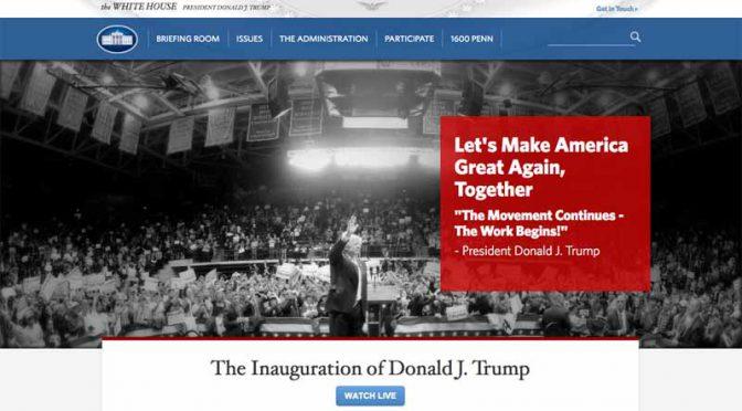 大統領就任式に臨んだ米トランプ新大統領、「TPP」からの離脱及び「NAFTA」の再交渉を示唆