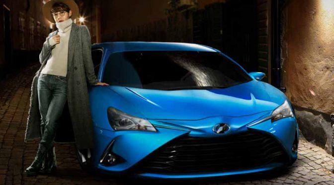 トヨタ自動車、偽物ばかりで本物の「Vitz」が登場しない…広告グラフィックを展開