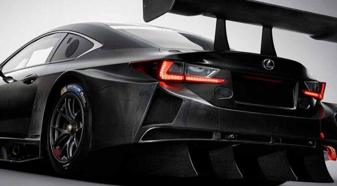 LEXUS「RC F GT3」を2017年のGT3カテゴリーに投入。デビューはデイトナ24時間