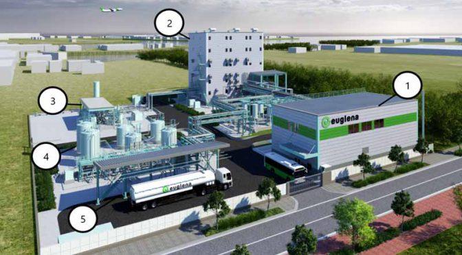 ユーグレナと千代田化工建設、バイオジェット・自動車ディーゼル燃料製造実証プラントを建設へ