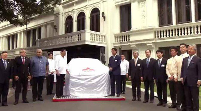 フィリピン・ドゥテルテ大統領出席の下、マラカニアン宮殿で「三菱ミラージュG4」生産開始式典開催