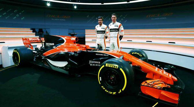 マクラーレン・ホンダ(McLaren-Honda)、新型F1マシン「MCL32」を公開